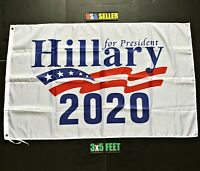 Joe Biden Flag FREE FIRST CLASS SHIP W Hillary Clinton 2020 Trump Bernie USA 3x5