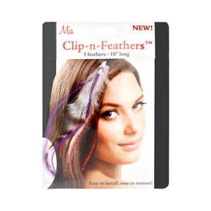 Mia Clip-In-Feathers Model No. 05308 - Purple Brand New