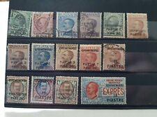 CONSTANTINOPLA. Lote de sellos antiguos de Colonias italianas .