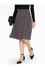 NEW $109 TALBOTS Black,Pink Shadow Box Pleated Rayon Skirt Sz 10