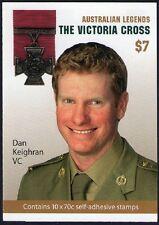 2015 AUSTRALIAN STAMP BOOKLET VICTORIA CROSS (DAN KEIGHRAN) 10 x 70c STAMPS MUH