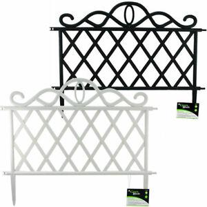 Flexible Garden Lawn Grass Edging Picket Border Panel Plastic Wall Fence 4 6 8