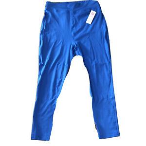 Popfit Leggings Size 4XL Blue Pop Fit 1010-4 Activewear Comfort Pockets Tapered