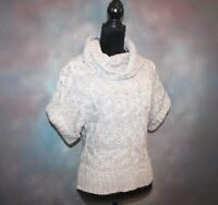 Maurices Women's Sweater Size Large Short Sleeve Knit Cowl Neck Top