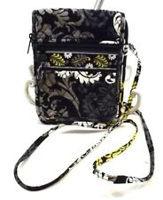 NWOT VERA BRADLEY QUILTED PAISLEY FLORAL Bag Crossbody Purse YELLOW BLACK GRAY