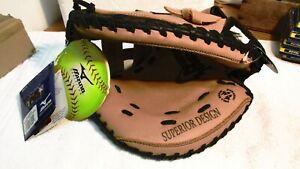 NWT Mizuno GXS100 POWER CLOSE Softball Catchers Mitt Glove, LEFT HAND, NEW
