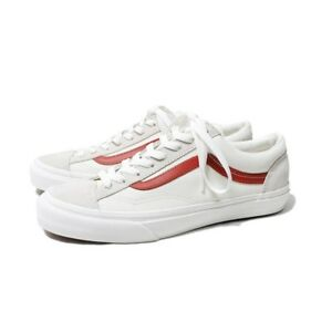 Vans Style 36 Shoes Marshmallow Racing Red Sneakers VN0A3DZ3OXS 100% Authentic