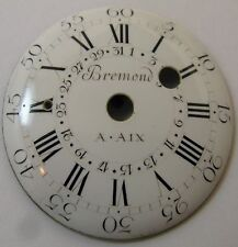 Bremond a Aix porcelain Dial 34.8 mm with calendar chain fusee period