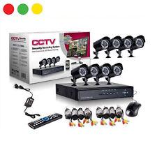 KIT VIDEOSORVEGLIANZA DVR 8 CANALI 8 TELECAMERE H.264 CCTV ALIMENTATORE TELECOMA