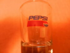 PEPSI-COLA RED/WHITE/BLUE WITH BALL LOGO SHOT GLASS, NEW,