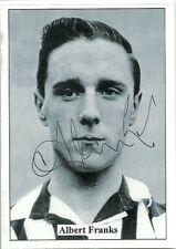 Albert Franks - NEWCASTLE UNITED - Signed Popular Footballers Card