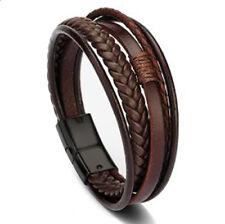 Best Seller - Handmade Braided Genuine Leather Bracelet 20cm for Men & Women