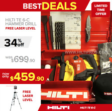 HILTI TE 6-S PREOWNED, FREE BITS & CHISELS, GREAT CONDITION, L@@K, FAST SHIPPING