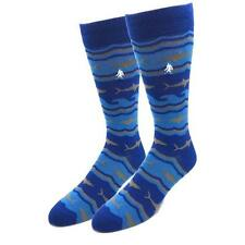 Bamboo Shark Socks Fun Novelty Navy One Size Fits Most Dress Casual Big Foot