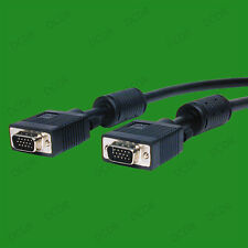 10m HQ abgeschirmtes 15 Pin Stecker zu SVGA / VGA MONITOR TV LCD TFT Kabel Meter