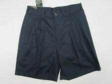 Jos A Bank casual/golf cotton twill shorts pleated blue  33 retail 49.50