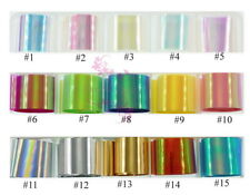 1 Roll Broken Glass Mirror Foil Candy Color Film Decal Nail Art Manicure Design