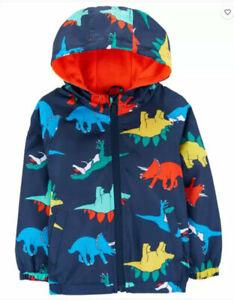 Carter's Boys Navy Dino Fleece Lined Jacket Size 2T 3T 4T 4 5/6 7