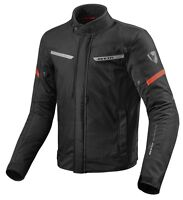 GIACCA JACKET MOTO REV'IT REVIT LUCID H2O NERO ROSSO BLACK RED IMPERMEABILE TG L