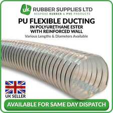 Clear Flexible ducting hose/pipe for ventilation of dust & fumes woodworking