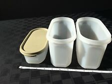 Tupperware Modular Mate Oval 2 and 1 with 1 tan seal EUC