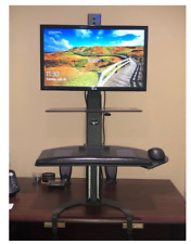 """Taskmate Go Sit To Stand Desk Set Up by Health Postures 6301 """"Easy - Clamp On"""""""