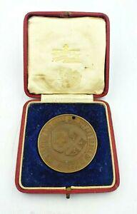 WW1 1918 RED CROSS ORDER OF ST JOHN FUNDRAISING MEDALLION IN ORIGINAL CASE