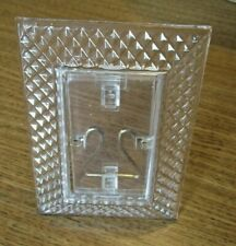 Vintage Diamond Pattern Clear Glass Easel Back Picture Frame 1 3/4 x 2 3/4 in.