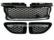 Range Rover sport Grille+side vent Autobiography style upgrade kit black+chrome