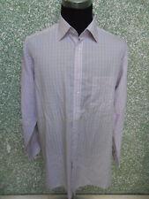 180 Z7 eterna EXCELLENT Camicia Uomo KW 45 TGL XXL ROSA NERO SCACCHI