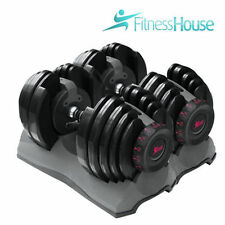 Manubri regolabili 2- 24kg Fitness.Manubri pesi dischi sollevamento peso disco