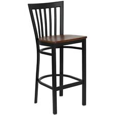 Flash Metal Restaurant Bar Stool, Black, Cherry - XU-DG6R8BSCH-BAR-CHYW-GG