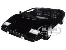 LAMBORGHINI COUNTACH LP400 BLACK 1/18 DIECAST MODEL CAR BY KYOSHO C 09531 BK