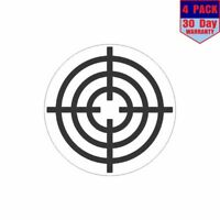 8x 1.25in x 1.25in Bullseye Target with Clear Background Sticker Decals