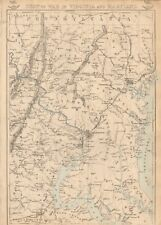 1863  LARGE ANTIQUE MAP - DISPATCH ATLAS- SEAT OF WAR IN VIRGINIA AND MARYLAND