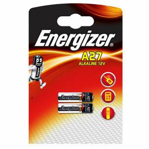 2 x Energizer A27 12V Battery 27A MN27 GP27A E27A EL812