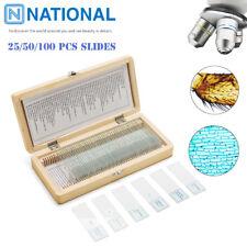 2550100pcs Prepared Microscope Slides Professional Plant Animal Specimen Glass