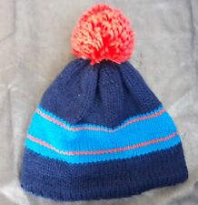 15d6aa5b295 New Dare2B Boys knitted bobble hat-blue orange-age -age10-12yrs