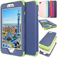 For iPhone 8 / 8 Plus Heavy Shockproof Rugged Hybrid Rubber Bumper Case Cover