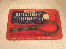 SNAP-IT ELECTRICAL REPLACEMENT  ELEMENT NEW OLD STOCK 1950's Heater Fan RARE