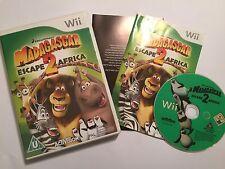 NINTENDO Wii GAME MADAGASCAR 2 Escape Africa + scatola istruzioni completo PAL