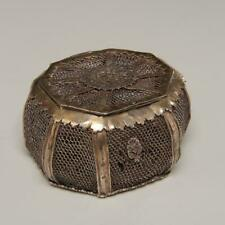 EARLY POSS. 17TH. C. MUGHAL INDIAN SILVER BOX