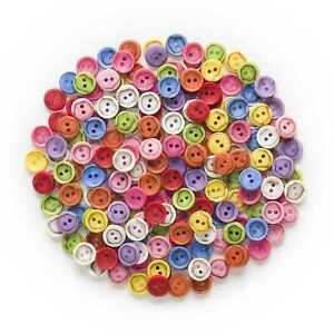 50pcs Mixed 2 hole Resin buttons Sewing Scrapbooking Clothing Decor Home 12.5mm
