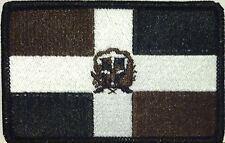 DOMINICANA Flag Tactical Patch With VELCRO® Brand Black, Brown & White Version