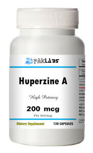 Huperzine A Capsules Enhances Memory 200mcg HIGH POTENCY 120 Capsules Big Bottle