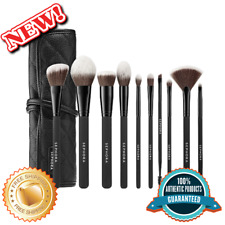 SEPHORA COLLECTION Ready To Roll, All Essential Brush Set W/ Leather Travel Bag