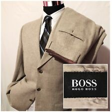 Hugo Boss Mens Wool Suit Jacket And Pants Gray Size 40R