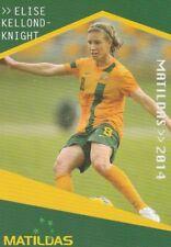 ELISE KELLOND-KNIGHT AUSTRALIA MATILDAS A-LEAGUE 2014/2015 TAPNPLAY SOCCER CARD