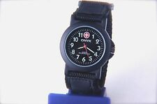 Sports Collection Watch Black Color with Decorative Numerals Dial & Nylon Strap
