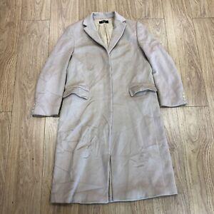 Womens Alpaca Trench Coat Size 16 UK Hugo Boss Cream B6077